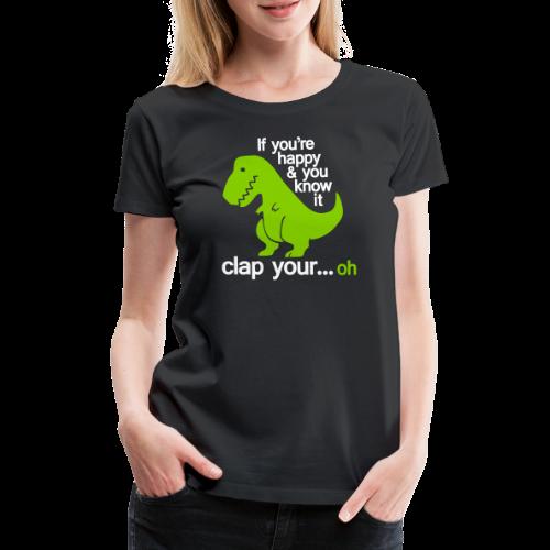 Happy T-Rex - Premium-T-shirt dam