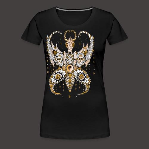 Papillon Lilou Dore - T-shirt Premium Femme