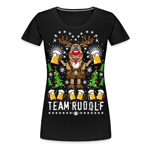 107 Team Hirsch Rentier Rudolph Rudolf Bier Beer - Frauen Premium T-Shirt