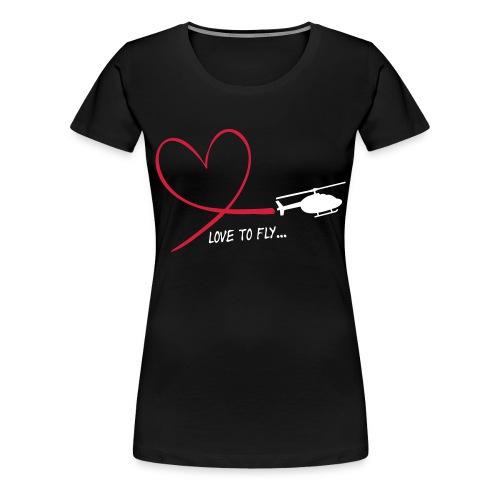 love_to_fly_jet_ranger - Frauen Premium T-Shirt