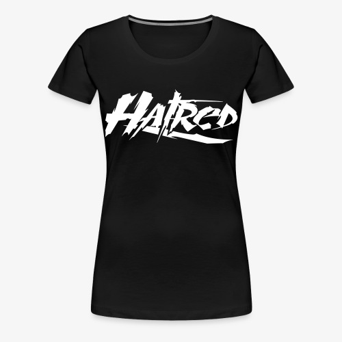 Hatred Shirt Logo V-Ausschnit - Frauen Premium T-Shirt