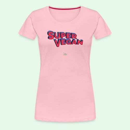 Super Vegan - Premium-T-shirt dam