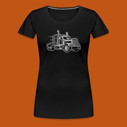 Truck / Lkw 03_weiß - Frauen Premium T-Shirt