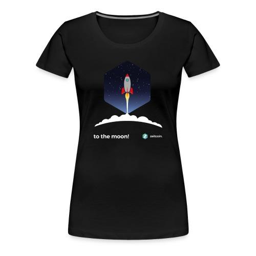 zeit to the moon - Women's Premium T-Shirt