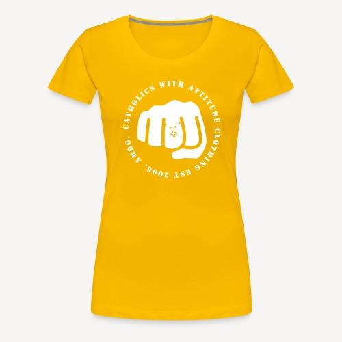 CATHOLICS WITH ATTITUDE - Women's Premium T-Shirt