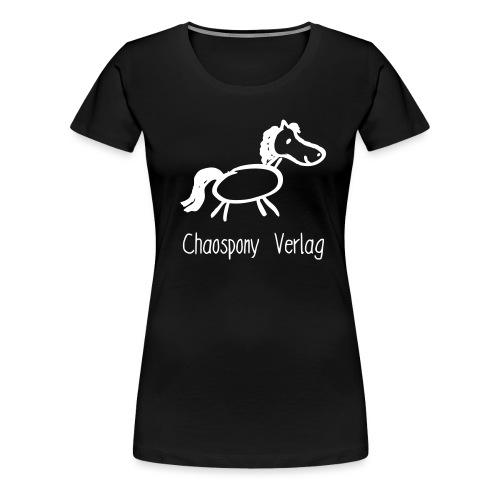 Chaospony mit Schriftzug - Frauen Premium T-Shirt