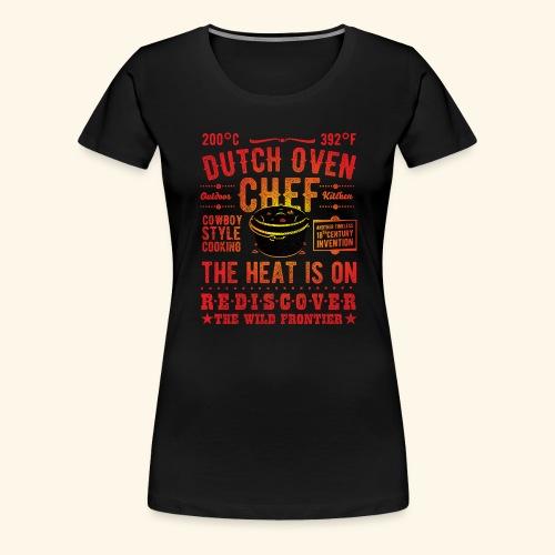 Grill-Shirt Dutch Oven Chef - Frauen Premium T-Shirt