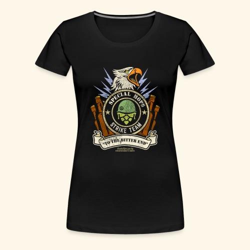 Craft Beer Fan T Shirt Special Hops Strike Team - Frauen Premium T-Shirt