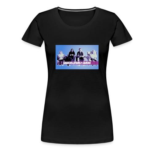 SanneVilleFamily Gaming med blå baggrund - Dame premium T-shirt
