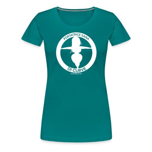 Portatrice sana di curve fondi scuri - Maglietta Premium da donna
