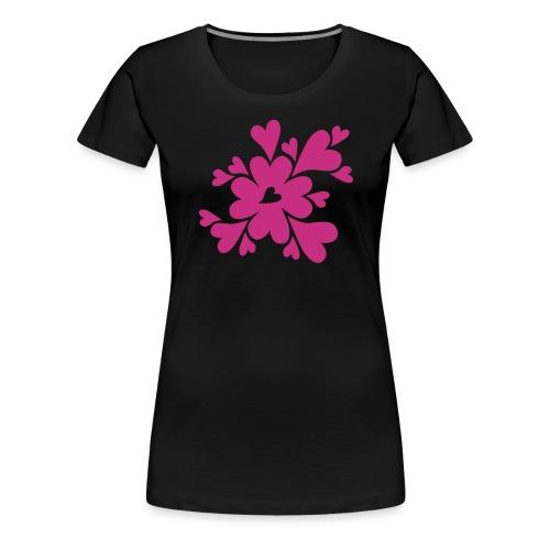 HJÄRTAN - Premium-T-shirt dam