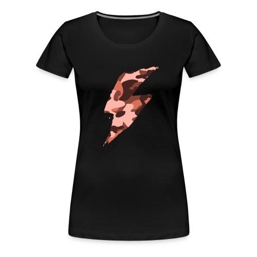 fulmine grosso rosso - Maglietta Premium da donna