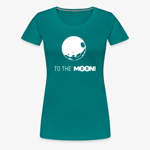 HODL-moonbtc-w - Women's Premium T-Shirt
