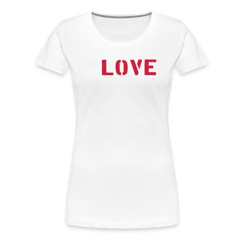 I Love Burpees - Naisten premium t-paita
