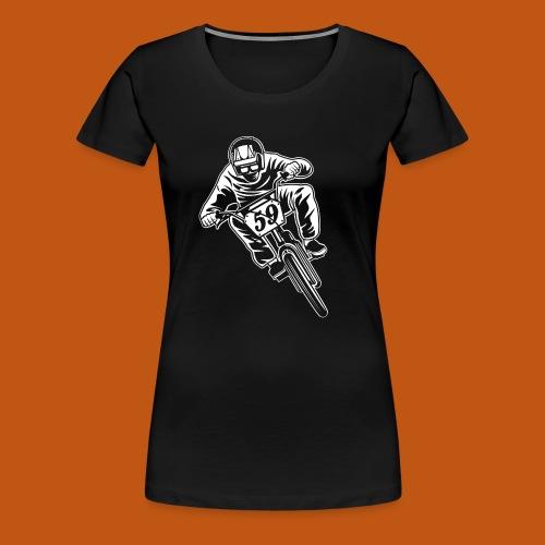 BMX Fahrrad / Bike 02_weiß - Frauen Premium T-Shirt