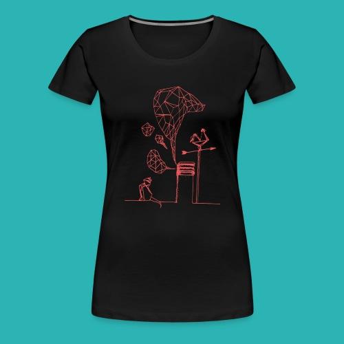 Carta_gatta_pink-png - Maglietta Premium da donna