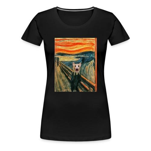 cat scream - T-shirt Premium Femme