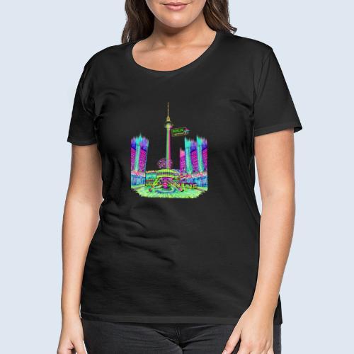 "Berliner Original ""Alexanderplatz"" PopArt Design - Frauen Premium T-Shirt"
