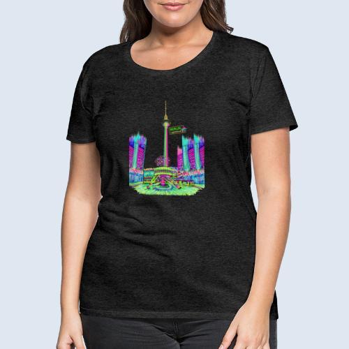 Berlin Alexanderplatz / BerlinLightShow /PopArt - Frauen Premium T-Shirt