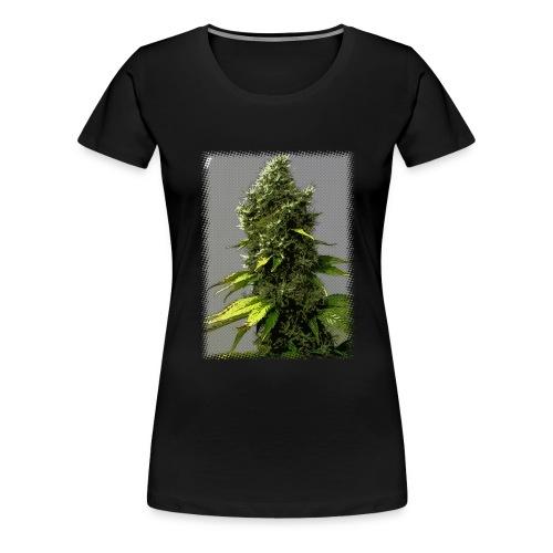 cartoon weed bud - Women's Premium T-Shirt
