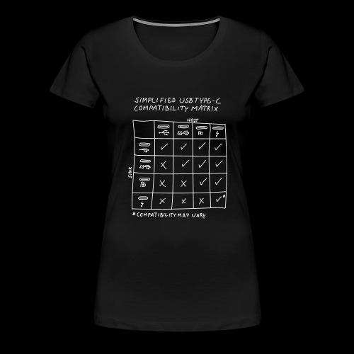 USB C Compatibility - Women's Premium T-Shirt