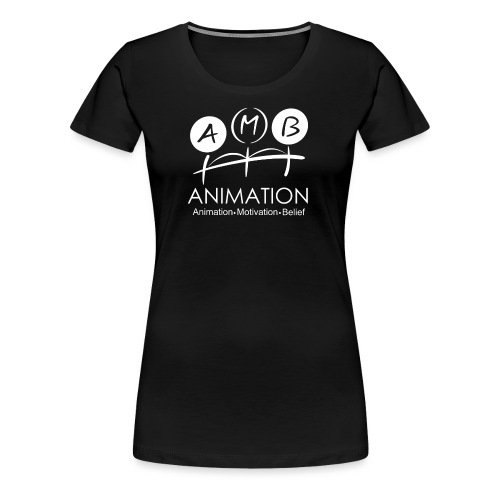 AMB Logo Animation Motivation Belief - Women's Premium T-Shirt