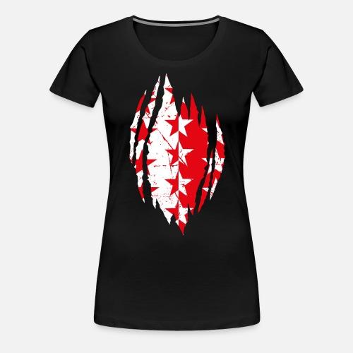 VALAIS / WALLIS - Frauen Premium T-Shirt