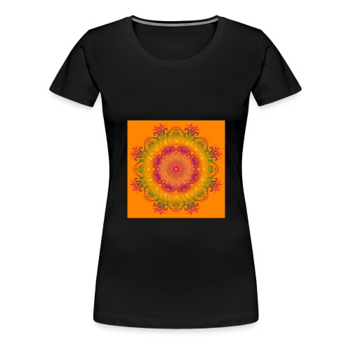 mandala floreale arancione - Maglietta Premium da donna