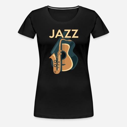 Jazz Gitarre mit Saxophon - Frauen Premium T-Shirt