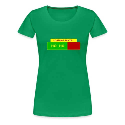 Loading Santa - Naisten premium t-paita