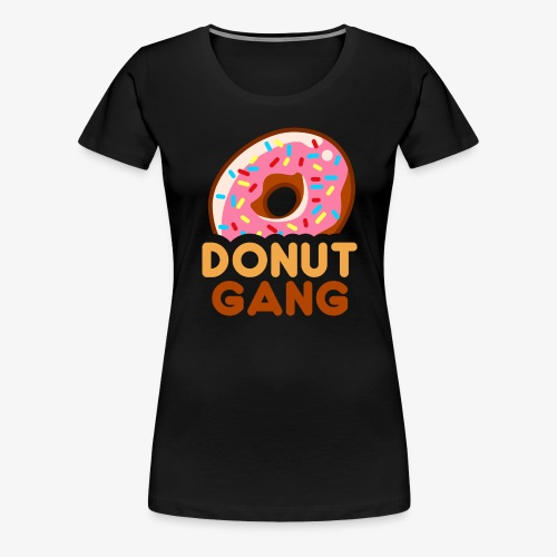 Donut Gang - Logo (med tekst) - Dame premium T-shirt