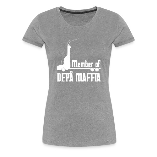 Depå Maffia vitt tryck - Premium-T-shirt dam