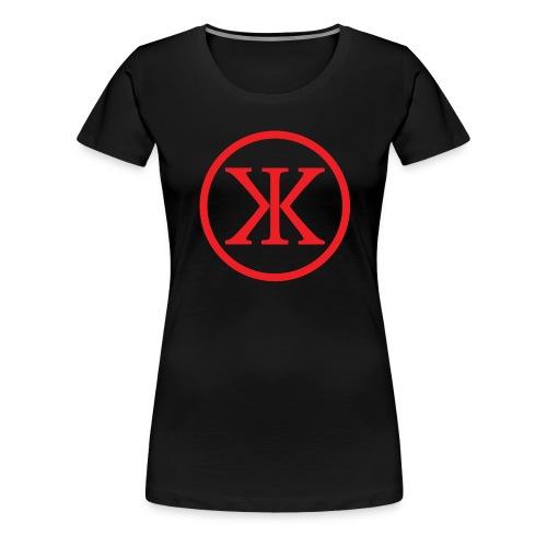 KK KingKnut V-Shirt Logo in Black/Red - Frauen Premium T-Shirt