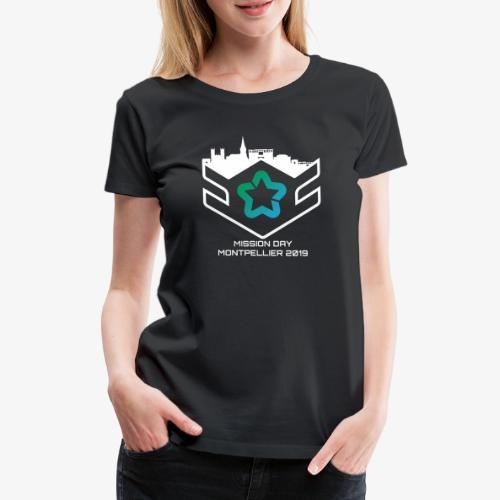 MD white - T-shirt Premium Femme