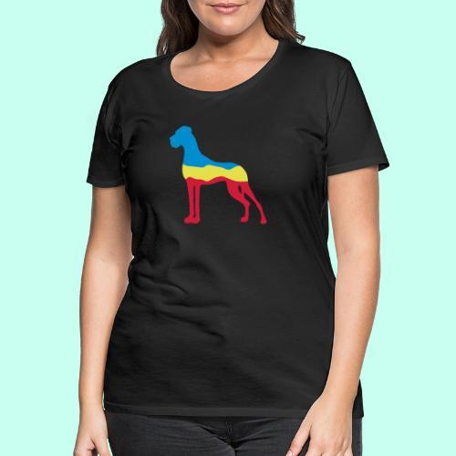 Flaggen Dogge - Frauen Premium T-Shirt