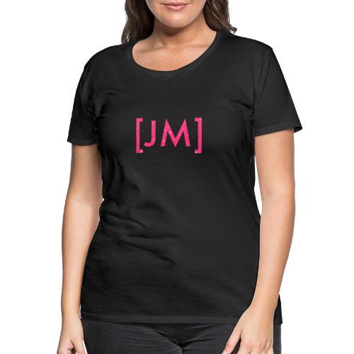 JamesMitchellTV Pink Glitter Logo - Women's Premium T-Shirt