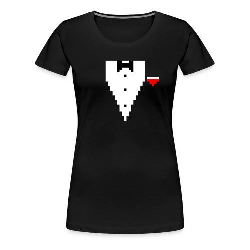 Tuxedo Pixel - Frauen Premium T-Shirt