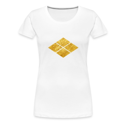 Takeda kamon Japanese samurai clan faux gold - Women's Premium T-Shirt