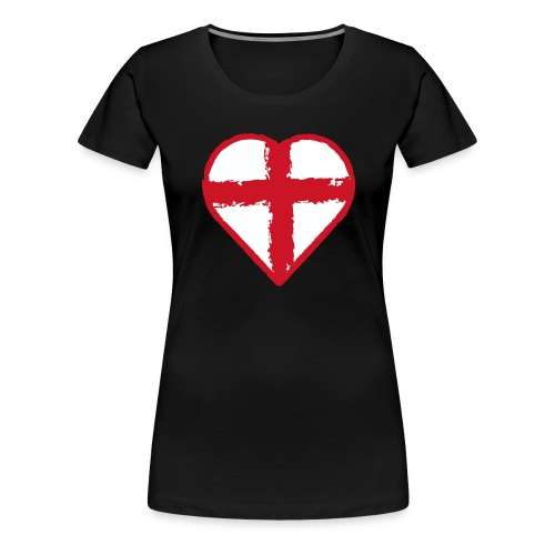 Heart St George England flag - Women's Premium T-Shirt