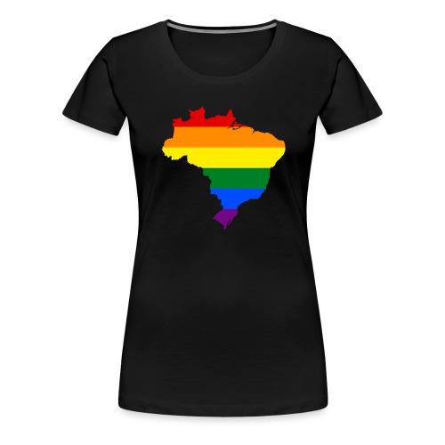brasil - Maglietta Premium da donna