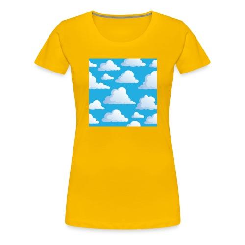 Cartoon_Clouds - Women's Premium T-Shirt