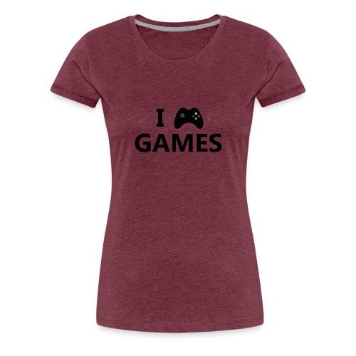 I Love Games 3 - Camiseta premium mujer