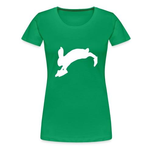 Bunny_Logo - Dame premium T-shirt