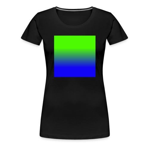 Linear pattern of green and blue - Women's Premium T-Shirt