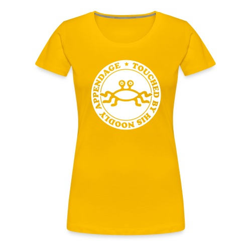 Touched by His Noodly Appendage - Women's Premium T-Shirt