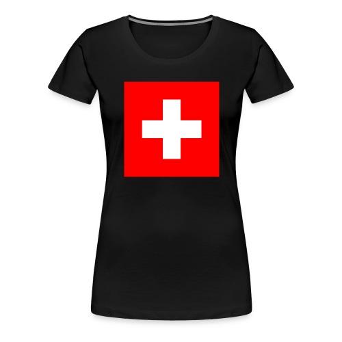 Flag_of_Switzerland - Frauen Premium T-Shirt