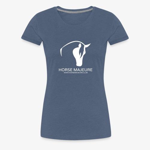 Horse Majeure Logo / Valkoinen - Naisten premium t-paita