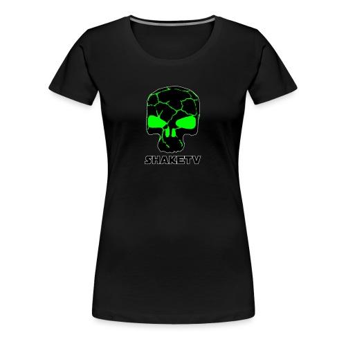 shaketv verde scritta sotto contorno bianco 4 - Maglietta Premium da donna