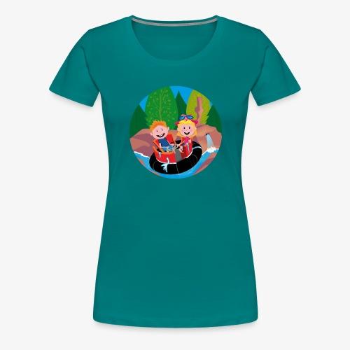Themepark: Rapids - Vrouwen Premium T-shirt