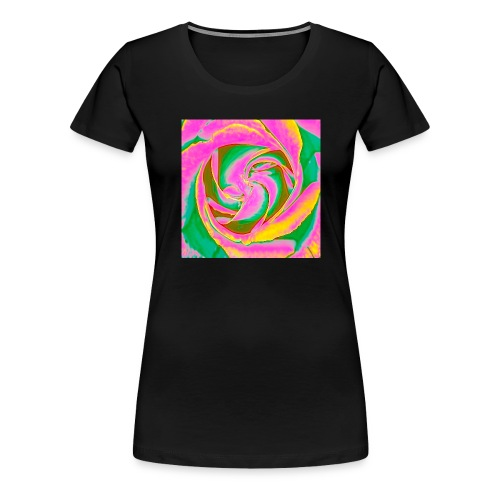 Psychedelic Rose - Women's Premium T-Shirt